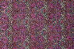 Traditionele van het het patroonkasjmier van Paisley pashminasteekproef royalty-vrije stock afbeelding