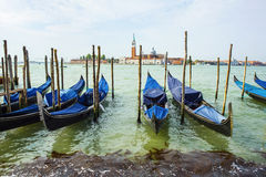 Traditionele Venetiaanse gondels, Venetië, Italië Royalty-vrije Stock Foto's