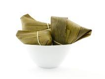 Traditionele verpakte rijstbollen Stock Afbeelding