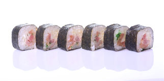 Traditionele verse Japanse sushibroodjes Stock Afbeelding