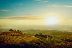 traditionele villa in Toscanië Stock Foto