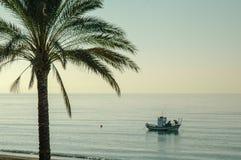 Traditionele vissersboot in de Middellandse Zee royalty-vrije stock foto's