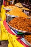 Traditionele voedselmarkt in India. royalty-vrije stock foto's