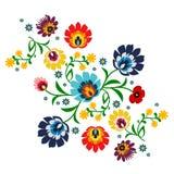 Traditionele volks bloemenpatroonillustratie Royalty-vrije Stock Foto
