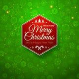 Traditionele Vrolijke Kerstmis en Gelukkige Nieuwjaarskaart. Royalty-vrije Stock Fotografie