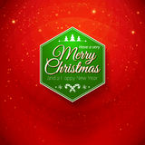 Traditionele Vrolijke Kerstmis en Gelukkige Nieuwjaarskaart. Typografisch Stock Afbeelding