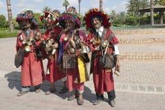 Traditionele waterverkopers in Marrakech stock foto