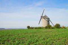 Traditionele windmolen - Le Moulin Moidrey, Frankrijk Stock Afbeeldingen