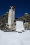 Traditionele witte trulligebouwen Stock Foto's