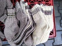 Traditionele wollen sokken Stock Foto's
