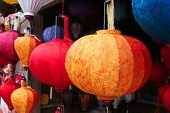 Traditionele zijdelantaarns stock foto's