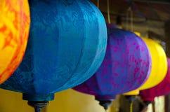Aziatische zijdelantaarns Royalty-vrije Stock Afbeeldingen