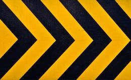 Traditionele zwart en gele Waarschuwing Stock Afbeelding