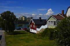 Traditionele Zweedse Architectuur in Karlskrona Royalty-vrije Stock Afbeelding
