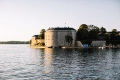 Traditionele Zweedse architectuur in Stockholm, Zweden royalty-vrije stock foto's