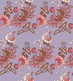 Traditionell östlig sömlös teckning som är peyslinsky av en halsduk Royaltyfri Bild