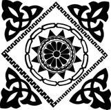 traditionell abstrakt svart design royaltyfri illustrationer