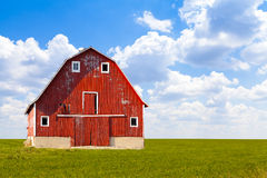 Traditionell amerikansk röd ladugård Arkivbilder