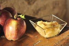 traditionell applesauce arkivfoto
