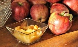 traditionell applesauce royaltyfri fotografi