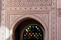 Traditionell arabisk färgrik forntida stilmosaik i inre beståndsdelar Abstrakt geometri, sniden tappningmodell fotografering för bildbyråer