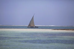 Traditionell arabisk fiskeDhow Mombasa Kenya Royaltyfria Foton