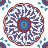 Traditionell arabisk prydnad som är sömlös för din design Skrivbords- tapet Bakgrund Iznik royaltyfri illustrationer