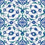 Traditionell arabisk prydnad som är sömlös för din design Skrivbords- tapet Bakgrund Iznik stock illustrationer