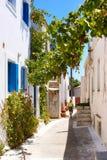 Traditionell arkitektur av den Chora byn på den Kythera ön, Gre Royaltyfri Bild