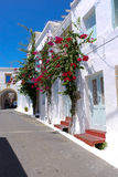 Traditionell arkitektur av den Chora byn på den Kythera ön, Gre Arkivbild