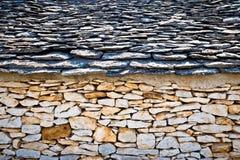 Traditionell arkitektur av den Dalmatia sikten Royaltyfri Bild