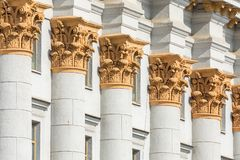 Traditionell arkitektur i gammal del av Minsk, Vitryssland arkivfoton