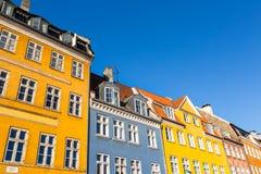 Traditionell arkitektur i Köpenhamnen, Danmark royaltyfri foto