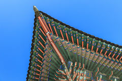Traditionell arkitektur i Korea Royaltyfri Foto