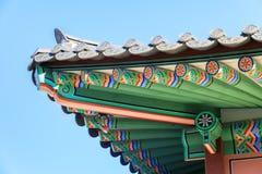 Traditionell arkitektur i Korea Royaltyfri Fotografi