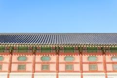 Traditionell arkitektur i Korea Arkivfoton