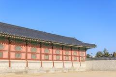 Traditionell arkitektur i Korea Royaltyfri Bild