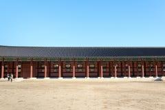 Traditionell arkitektur i Korea Arkivbilder