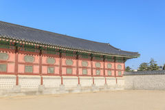 Traditionell arkitektur i Korea Royaltyfria Bilder
