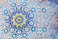Traditionell arkitektur i Uzbekistan Uzbekistan etnisk orname royaltyfri foto