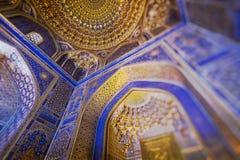 Traditionell arkitektur i Uzbekistan Uzbekistan etnisk orname royaltyfri bild