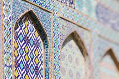 Traditionell arkitektur i Uzbekistan Uzbekistan etnisk orname royaltyfri fotografi