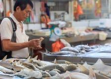 Traditionell asiatisk marknad royaltyfria foton