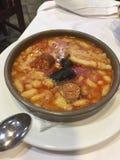 Traditionell Asturian mat i Spanien royaltyfri foto