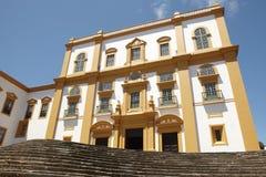Traditionell Azores fasad Allmän kapten för slott Angra Tercei arkivbild