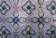 Traditionell azulejo för keramisk tegelplatta för porslin på fasaden av royaltyfri fotografi