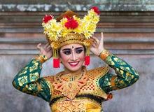 Traditionell Balinesedansare Arkivbild