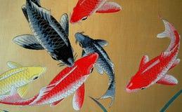 traditionell bambumålning Arkivbild
