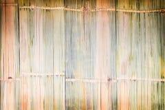 Traditionell bambustakettextur, abstrakt bakgrund för naturliga modeller royaltyfria foton