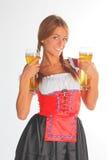 traditionell bavarianklänningflicka royaltyfri fotografi